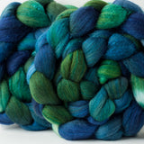 Targhee/silk spinning fiber: Earthsea variation, 4 oz
