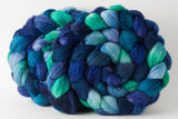 Targhee/silk spinning fiber: Under the Sea