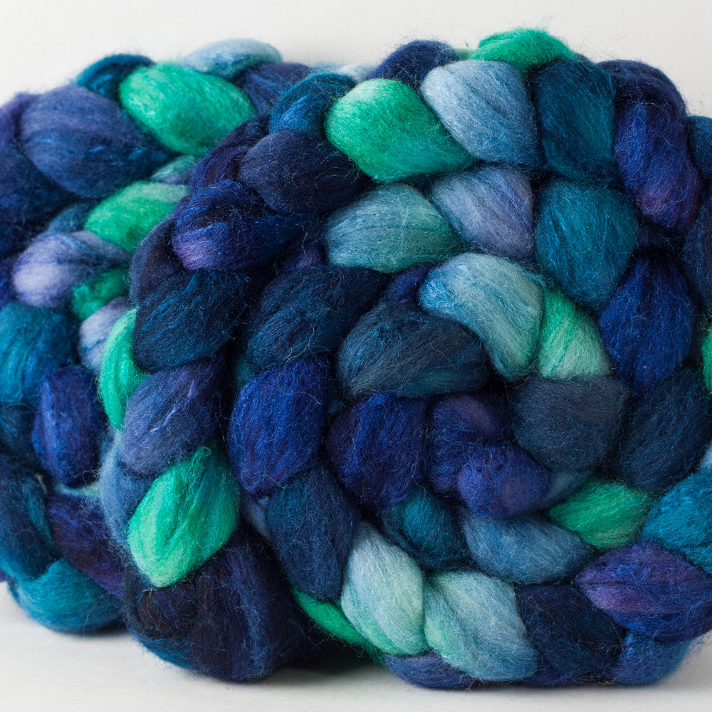 Huckleberry Knits Targhee Silk roving