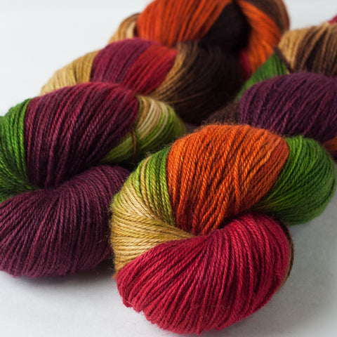 Willow Sock: Cranberry Autumn