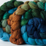 Merino/superwash merino/silk spinning fiber: Copper Canyon gradient