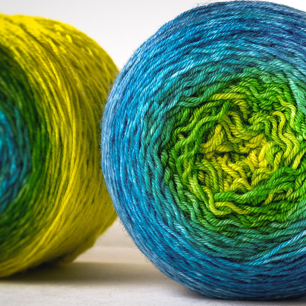 Gradient fingering-weight yarn: Sing Like a Sparrow
