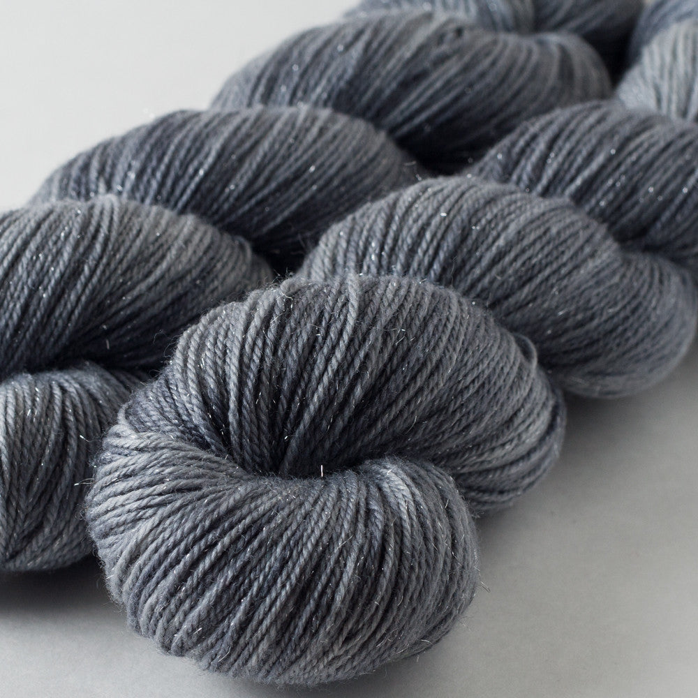 Huckleberry Knits Silk and Silver