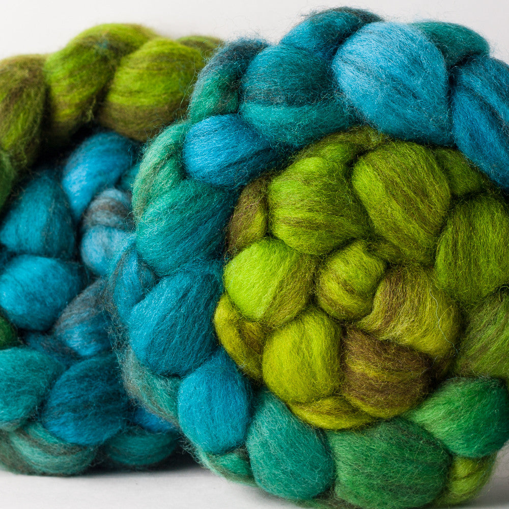 Mixed Blue-Faced Leicester combed top: Sing Like a Sparrow gradient