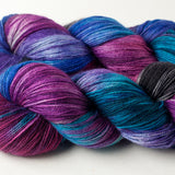 Willow Sock: fuchsia, turquoise, purple, black