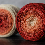 Gradient sock-weight yarn: Sandstone