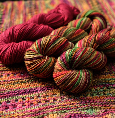 Faraway, So Close kit: Cranberry Autumn on American Dream Worsted