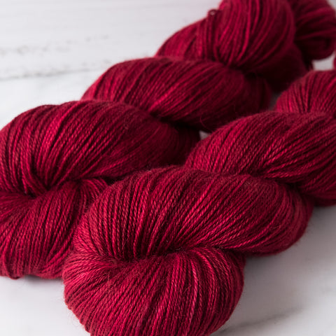Willow Sock: Garnet
