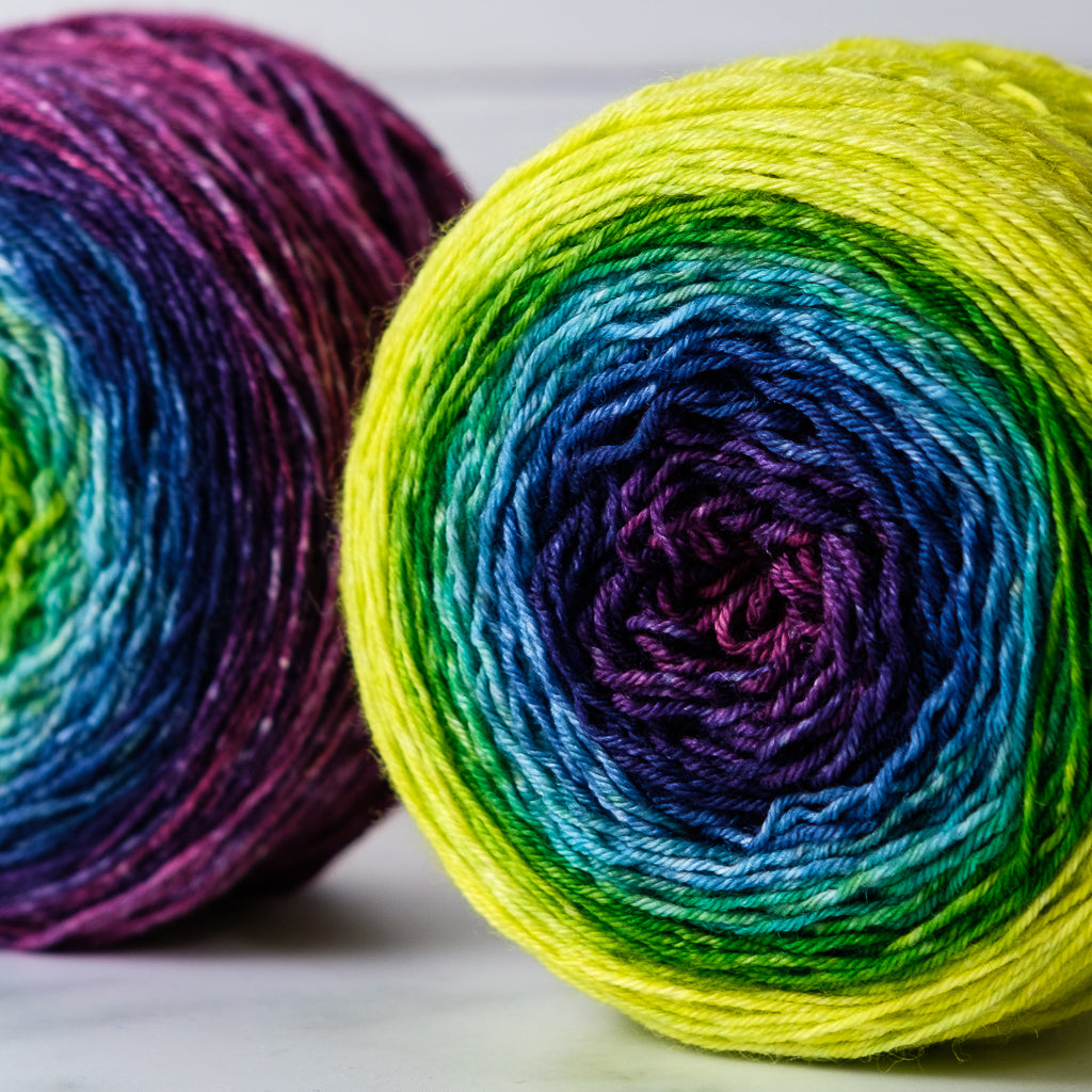 Gradient sock-weight yarn: Allegretto