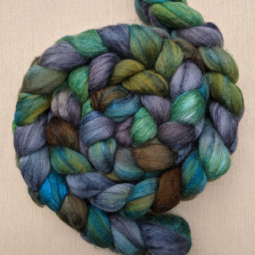 Polwarth/silk spinning fiber: Salt Spring, 4 oz
