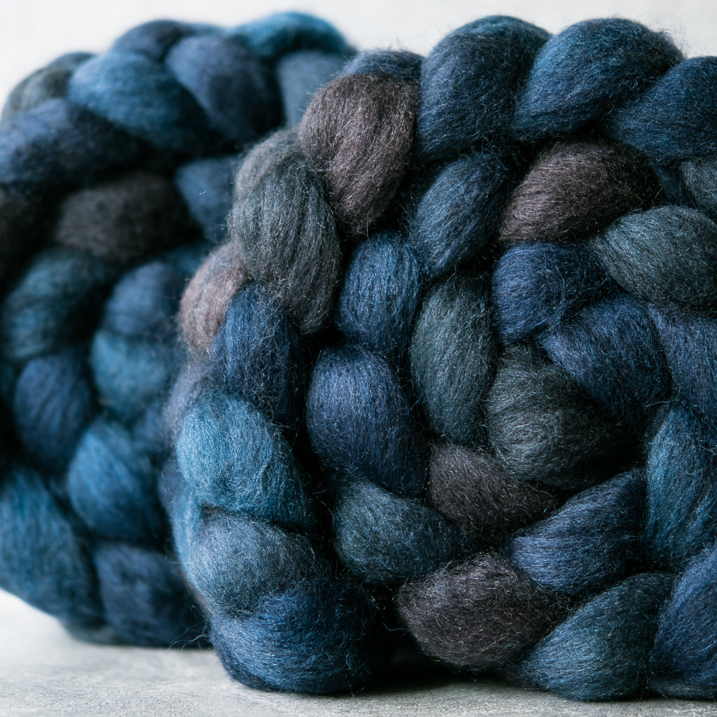 Mixed Blue-Faced Leicester and silk combed top: Winter's Night