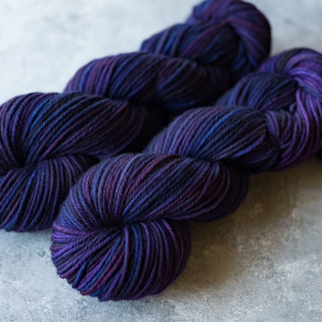 American Dream Rambouillet: purples and blues