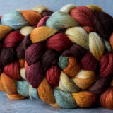 Polwarth/Silk Ultra spinning fiber: Breath of Autumn, 4 oz