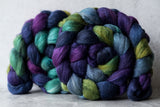 Polwarth/Silk Ultra spinning fiber: Dragonfly, 4 oz