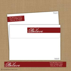 Believe wrap around label