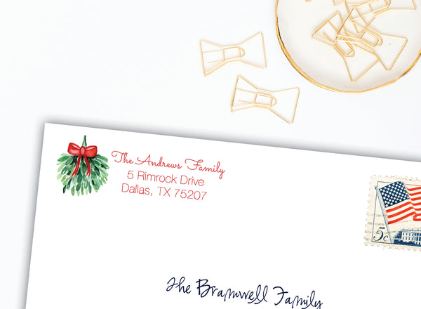 Mistletoe Labels