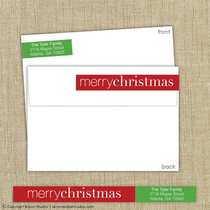 Merry Christmas Wrap Around Label
