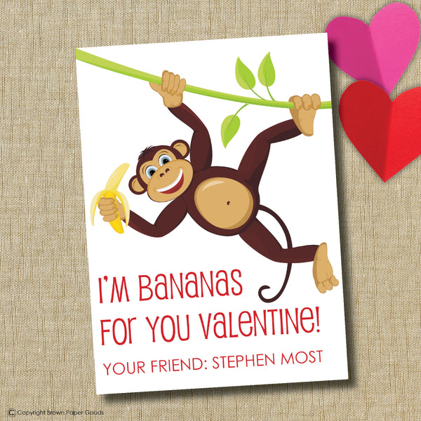 Monkey Valentine. Instant Download