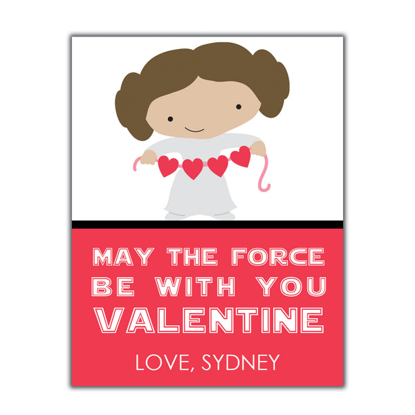 Princess Leia Valentine Instant Download