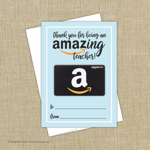 Amazon Teacher Gift Card Holder