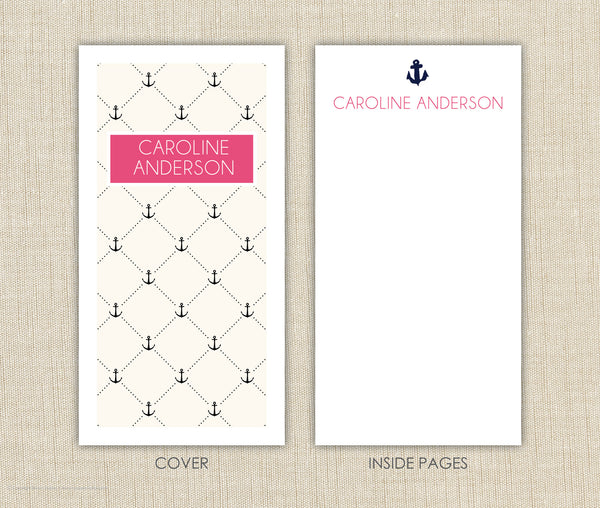 Personalized Notepad Set Anchor