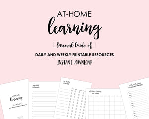 At-home learning printables