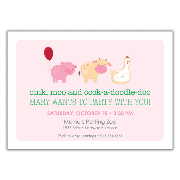 Farm Party Invitation