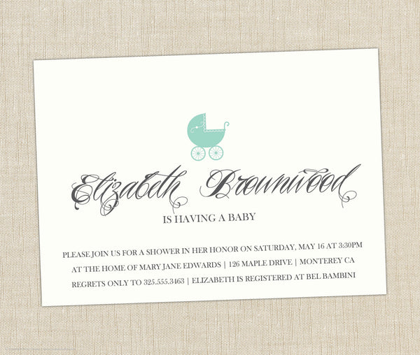 Pram Shower Invitation