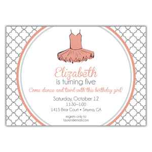 Ballet Party Invitation