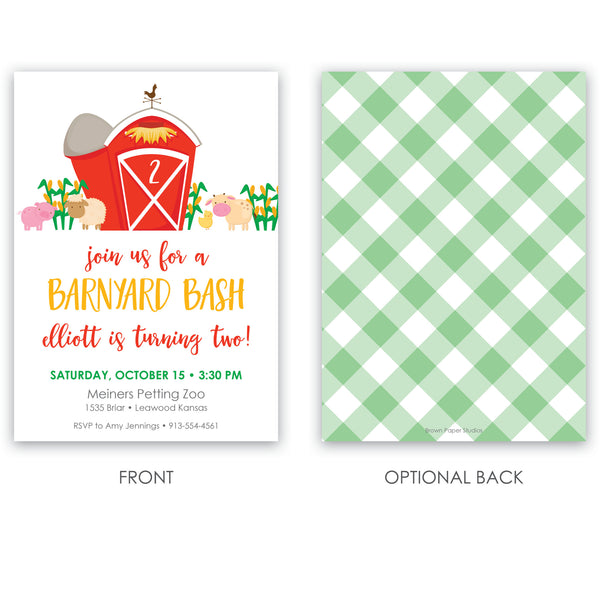 Barnyard Party Invitation