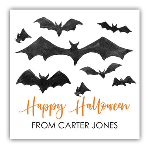 Halloween Bat Labels