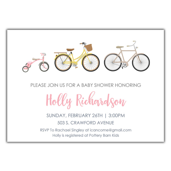 Bicycle Baby Shower Girls