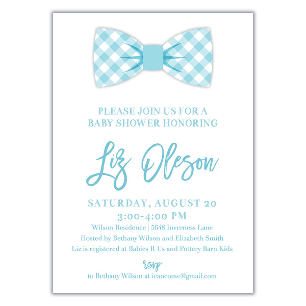 Bow Tie Shower Invitation