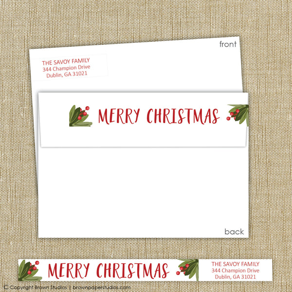 Boxwood Christmas Labels