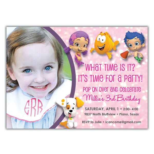 Bubble Guppies Birthday Invitation