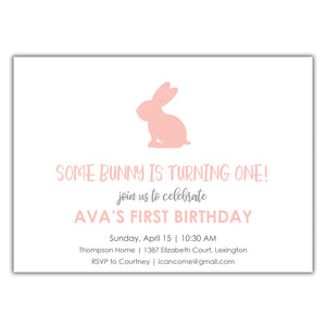 Bunny First Birthday