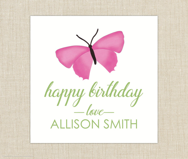 Butterfly Gift Labels