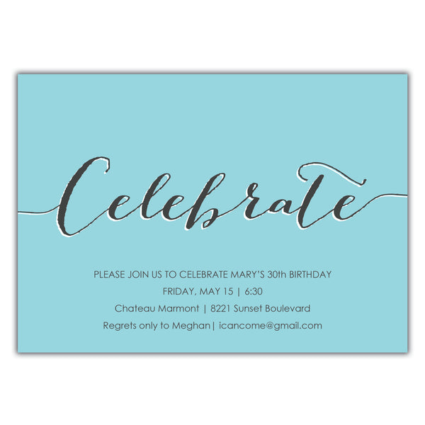Celebrate Birthday Invitation