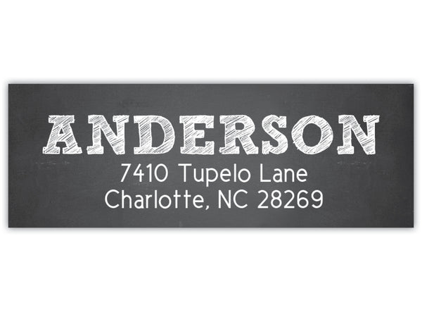 Chalkboard Return Address Label