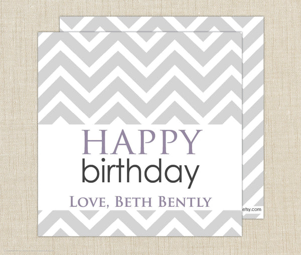 Chevron Birthday Gift Enclosure Cards