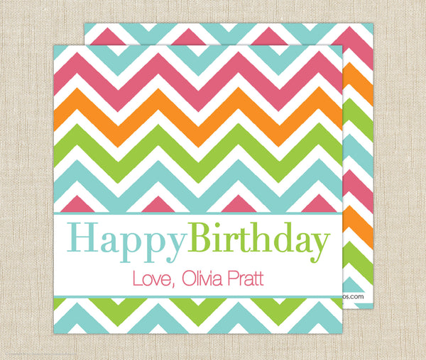 Chevron Gift Enclosure Cards