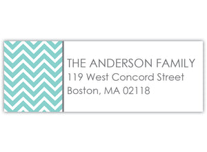 Chevron Return Address Label
