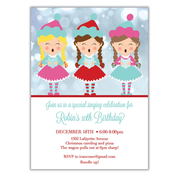 Christmas Caroling Invitation