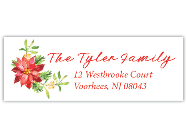 Christmas Floral Address Label