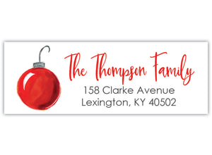Ornament Return Address Label