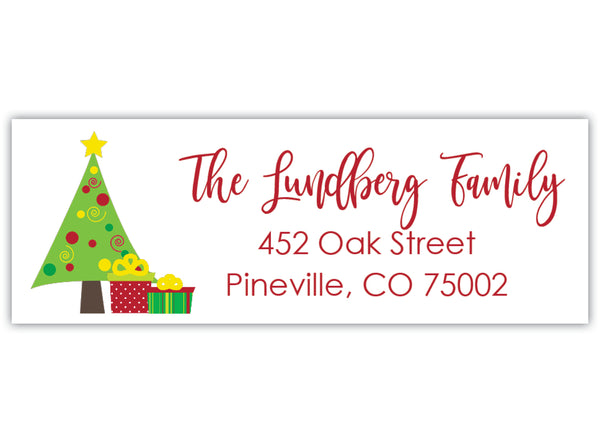 Christmas Tree Address Label