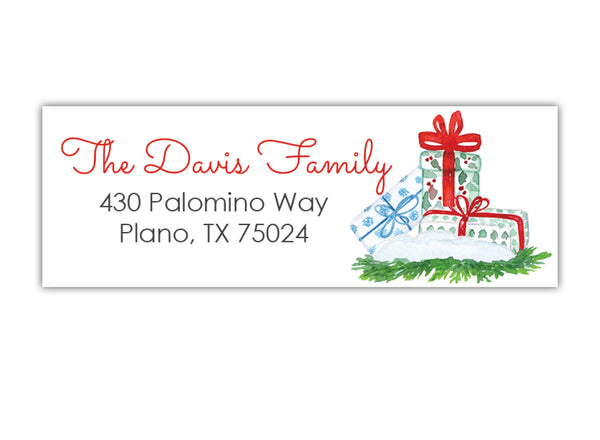 Christmas Gift Address Labels