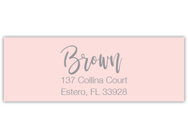Calligraphy Return Address Label