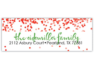 Confetti Return Address Label