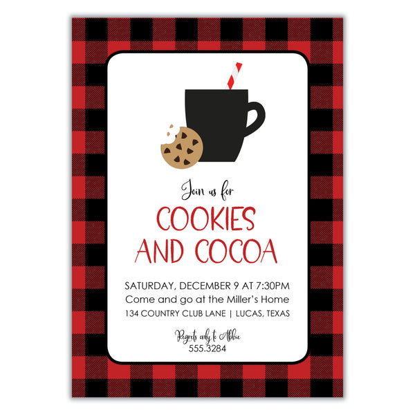 Cookies and Cocoa Invitation